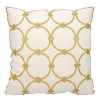 Mina Victory Circles 20-Inch Square Throw Pillow in Gold