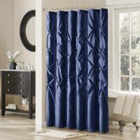 Madison Park Laurel 72-Inch x 72-Inch Shower Curtain in Navy