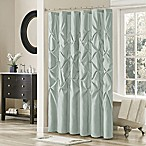 Madison Park Laurel 72-Inch x 72-Inch Shower Curtain in Seafoam