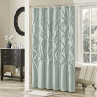 Madison Park Laurel 72-Inch x 72-Inch Shower Curtain in Blue