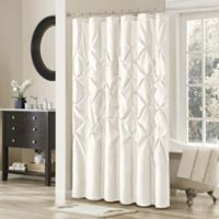 Madison Park Laurel 72-Inch x 72-Inch Shower Curtain in White