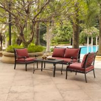 Crosley Portofino 4-Piece Outdoor Cast Aluminum Conversation Set