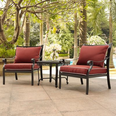 Crosley Portofino 3 Piece Outdoor Cast Aluminum Conversation Set
