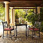 Crosley Portofino Cast Aluminum 3-Piece Bar Height Patio Bistro Set with Sangria Cushions