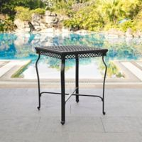Crosley Portofino Patio Bar Height Bistro Table in Black