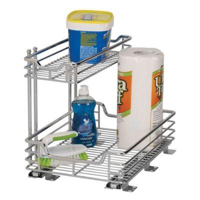 Household Essentials® 2 Tier 12.5 Inch Glidez Sliding Under Sink Organizer