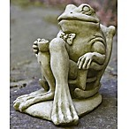 Campania Male Frog Stone Garden Statue with English Moss Finish