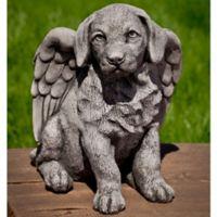 Campania Angel Puppy Garden Statue in Alpine Stone