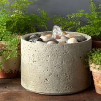 Campania Mini-Series Pebble Fountain in Verde