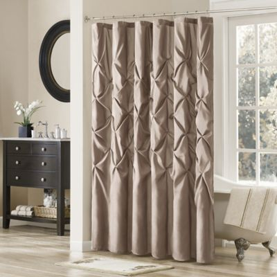 Madison Park Laurel 108 Inch X 72 Inch Shower Curtain In Mushroom
