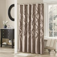 Madison Park Laurel 108-Inch x 72-Inch Shower Curtain in Mushroom