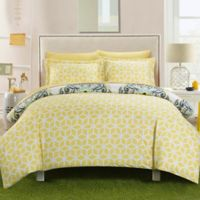 Chic Home Majorca 2-Piece Reversible Twin Duvet Cover Set in Yellow