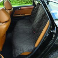 Soft Suede and Sherpa Reversible Medium Auto Bench Seat Pet Cover in Graphite/Cream