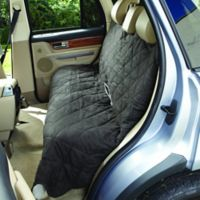 Soft Suede and Sherpa Reversible Large Auto Bench Seat Pet Cover in Graphite/Cream