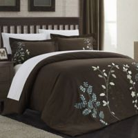 Chic Home Kathy 7-Piece King Duvet Cover Set in Brown