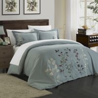 Chic Home Kathy 7-Piece Queen Duvet Cover Set in Green