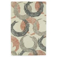 Kaleen Montage Circles 2-Foot x 3-Foot Accent Rug in Ivory