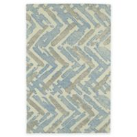 Kaleen Montage Chevron 2-Foot x 3-Foot Accent Rug in Ivory