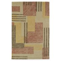 Kaleen Montage Boxes 3-Foot x 5-Foot Area Rug in Camel