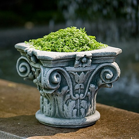 campania longwood capital planter in alpine stone bed bath beyond