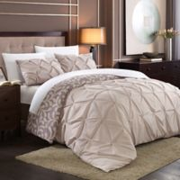 Chic Home Tirina 7-Piece Reversible Queen Duvet Cover Set in Plum