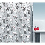 Moda at Home Mizzy PEVA Shower Curtain in Black