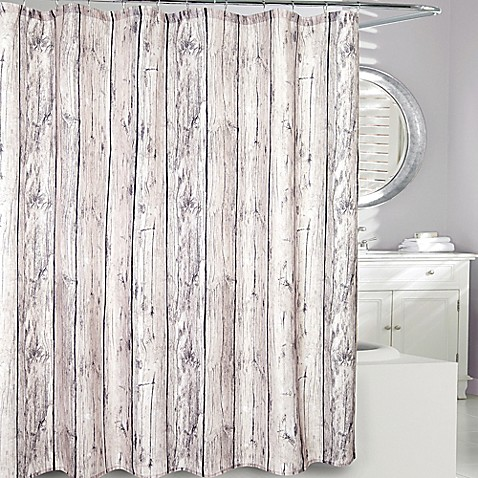 Moda at Home Oakwood Fabric Shower Curtain in Brown - Bed Bath & Beyond