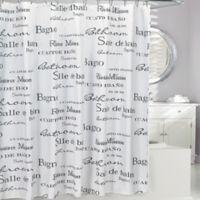 Moda at Home Salle De Bain Fabric Shower Curtain