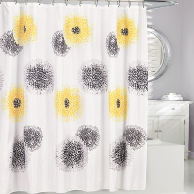 grey shower curtain liner. Blossum Fabric Shower Curtain Buy Liner from Bed Bath  Beyond