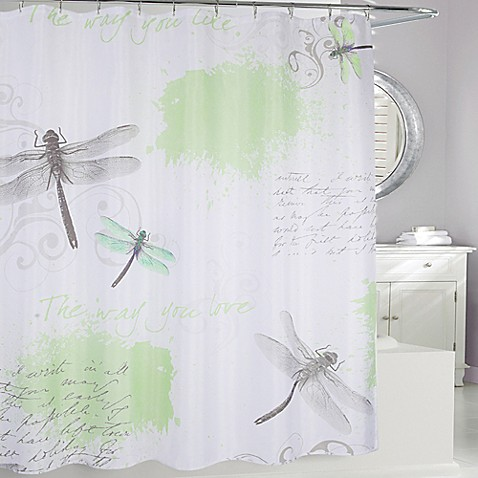 Dragonfly Fabric Shower Curtain Bed Bath Amp Beyond