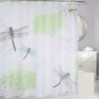 Dragonfly Fabric Shower Curtain