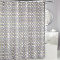 Moda at Home Greystone Fabric Shower Curtain in Grey