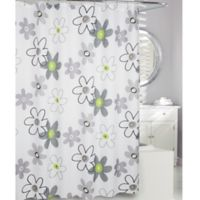 Moda at Home Whimsy Fabric Shower Curtain in Black