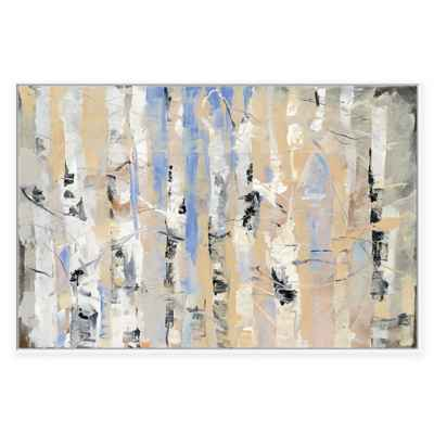 White Forest II Framed Canvas Wall Art