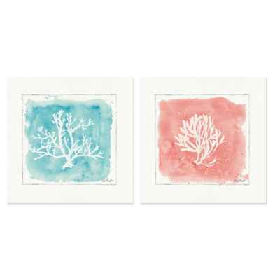 Water Coral 2-Piece Canvas Wall Art