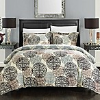 Chic Home Jameson 3-Piece Reversible Queen Duvet Cover Set in Beige