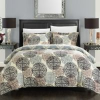 Chic Home Jameson 7-Piece Reversible King Duvet Cover Set in Beige