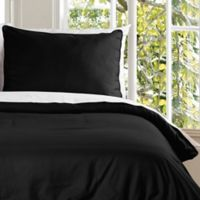 Clean Living Water Resistant Twin Duvet Cover Set in Black