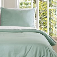 Clean Living Water Resistant Twin Duvet Cover Set in Sage
