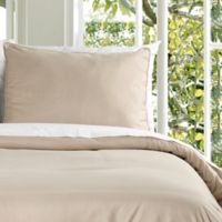 Clean Living Water Resistant Full/Queen Duvet Cover Set in Taupe