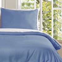 Clean Living Water Resistant King Duvet Cover Set in Smoke Blue