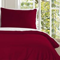 Clean Living Water Resistant King Duvet Cover Set in Red