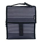 PackIt® Freezable Lunch Bag in Grey Stripe