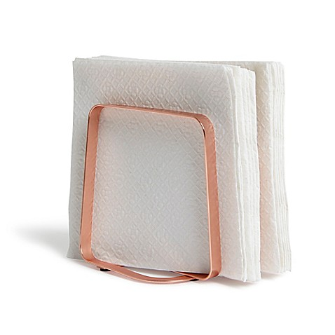 Umbra pulse napkin holder in copper bed bath beyond for Bathroom napkin holder