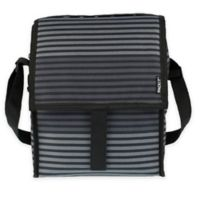 PACKiT® Freezable Deluxe Lunch Bag in Grey Stripe