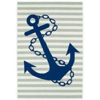Kaleen Sea Isle Anchor 2-Foot x 3-Foot Indoor/Outdoor Accent Rug in Grey