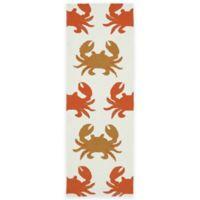 Kaleen Sea Isle Crabs 2-Foot x 6-Foot Indoor/Outdoor Runner in Ivory