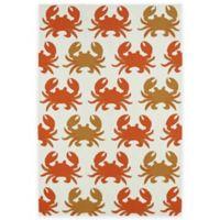 Kaleen Sea Isle Crabs 2-Foot x 5-Foot Indoor/Outdoor Accent Rug in Ivory