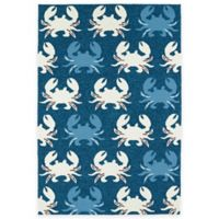 Kaleen Sea Isle Crabs 7-Foot 6-Inch x 9-Foot Indoor/Outdoor Area Rug in Navy