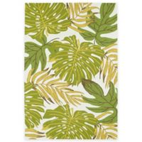 Kaleen Sea Isle Palms Indoor/Outdoor 7-Foot 6-Inch x 9-Foot Area Rug in Green